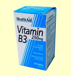 Vitamina B3 - Niacinamida 250 mg - Health Aid - 90 comprimidos
