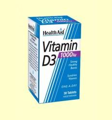 Vitamina D3 1.000 UI - Health Aid - 30 comprimidos