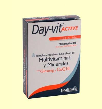 Day-Vit Active con ginseng y Coenzima Q-10 - Health Aid - 30 comprimidos