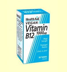 Vitamina B12 1000 ug - Health Aid - 50 comprimidos