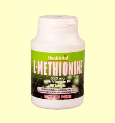 L-Metionina 550 mg con Vitamina B6 - Health Aid - 60 comprimidos