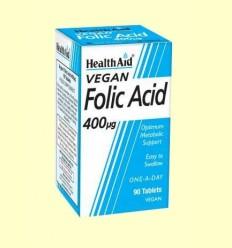 Ácido Fólico 400 ug - Health Aid - 90 comprimidos