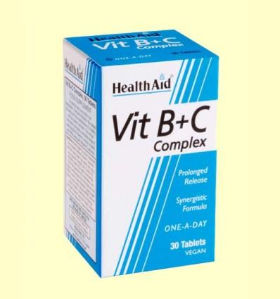 Complejo B + C - Health Aid - 30 comprimidos