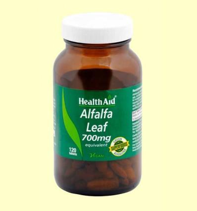 Alfalfa - Hoja 700 mg de polvo crudo - Health aid - 120 comprimidos
