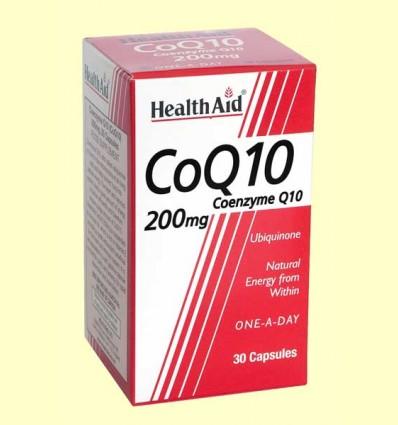 CoQ-10 200 mg - Coenzima Q-10 - Health Aid - 30 cápsulas