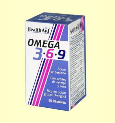 Omega 3-6-9 - Health Aid - 60 cápsulas