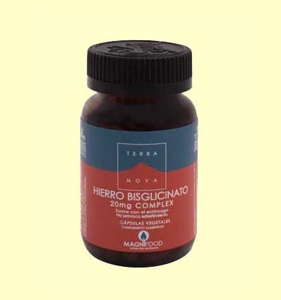 Hierro Bisglicinato 20 mg Complex - Terra Nova - 100 cápsulas