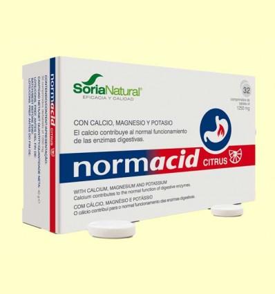 Normacid Citrus - Acidez - Soria Natural - 32 comprimidos