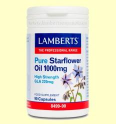 Aceite de Borraja Puro 1.000 mg - Aceites ricos en Omega 6 - Lamberts - 90 cápsulas