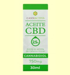 Aceite de CBD 750 mg - Cannactiva - 30 ml