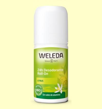 Desodorante Roll-on Citrus 24h - Weleda - 50 ml