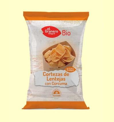 Cortezas de Lentejas con Cúrcuma Bio - El Granero - 65 gramos