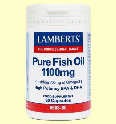 Aceite de Pescado Puro 1100 mg - Lamberts - 60 cápsulas