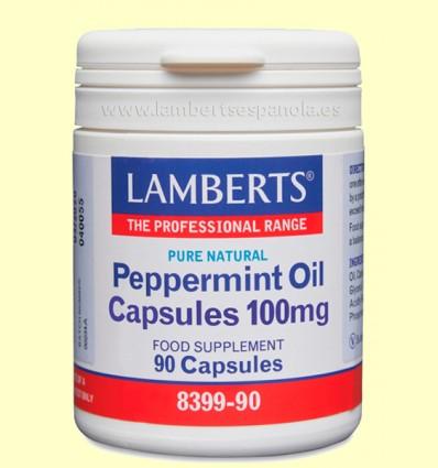 Aceite de Menta 100 mg - Lamberts - 90 cápsulas