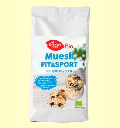 Muesli Fit&Sport con Quinoa y Coco Bio - El Granero - 500 g