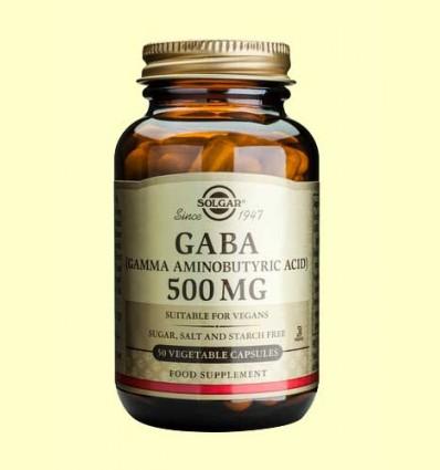 Gaba 500 mg - Aminoácidos - Solgar - 50 cápsulas