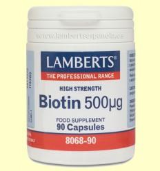 Biotina - Lamberts - 500 µg 90 cápsulas
