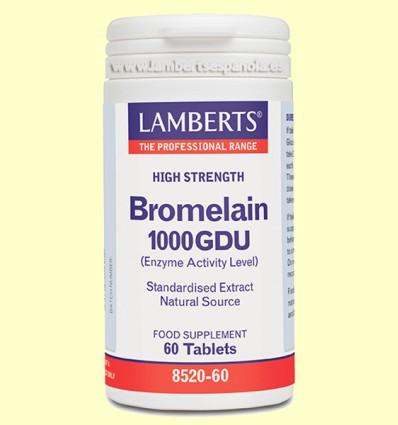 Bromelina 1000 GDU - Lamberts - 60 tabletas