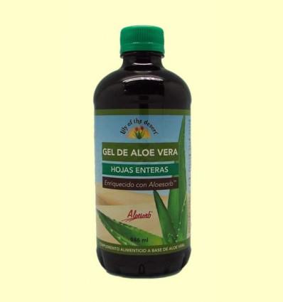 Gel bebible de Aloe Vera 99,5% Hojas Enteras - Lily of the desert - 946 ml