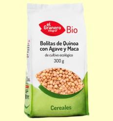 Bolitas de Quinoa con Agave y Maca Bio - El Granero - 300 g
