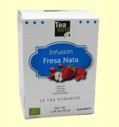Infusión Fresas con Nata - Tealand - 15 pirámides