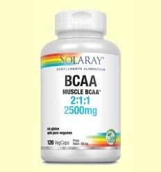 BCAA 2500 mg - Aminoácidos - Solaray - 120 cápsulas