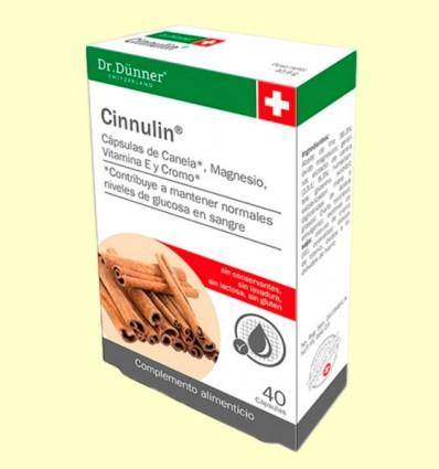 Cinnulin Canela - Niveles de azúcar - Dr Dünner - 40 cápsulas