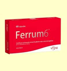 Ferrum6 - 6 sales de hierro - Vitae - 60 cápsulas