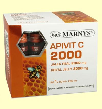 Apivit C 2000 mg - Jalea Real y Vitamina C - Marnys - 20 ampollas