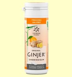Chicles Ginjer Jengibre y Naranja - Lemon Pharma - 30 gramos