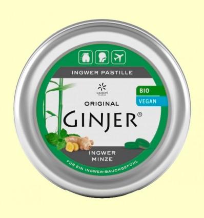 Pastillas Ginjer Jengibre y Menta Bio - Lemon Pharma - 40 gramos