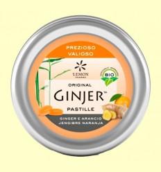 Pastillas Ginjer Jengibre y Naranja Bio - Lemon Pharma - 40 gramos