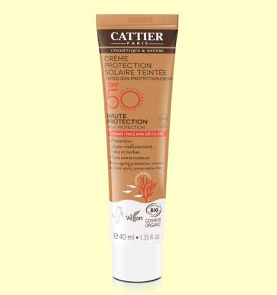 Crema Protección Solar con Color SPF50 - Cattier - 40 ml
