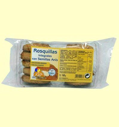 Rosquillas Integrales con Semillas de Anís - Int-Salim - 160 gramos