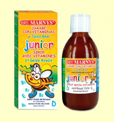 Jarabe Junior Multivitamínico con Jalea Real - Marnys - 250 ml