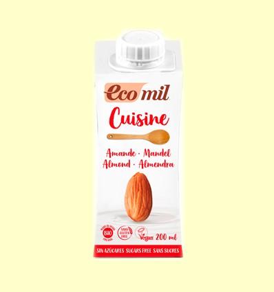 Crema de Almendra Cuisine Nature Bio Sin Azúcar - EcoMil - 200 ml