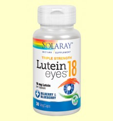 Lutein Eyes 18 mg - Solaray - 30 cápsulas vegetales