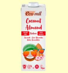 Leche de Coco y Almendras Sin Azúcar Bio - EcoMil - 1 litro
