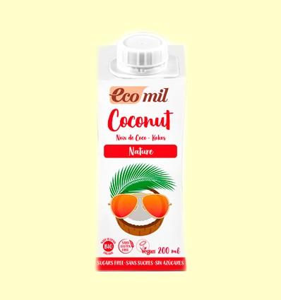 Leche de Coco Bio Sin Azúcar - EcoMil - 200 ml
