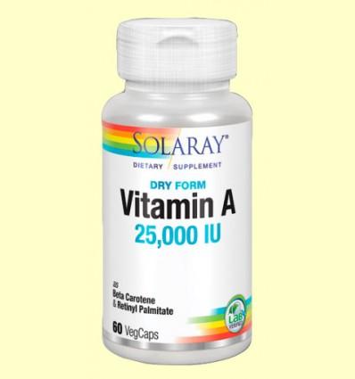 Dry A - Vitamina A - Solaray - 60 cápsulas