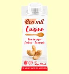 Cuisine Crema de Anacardo Bio Sin Azúcar - EcoMil - 200 ml