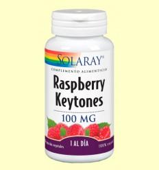 Raspberry - Frambuesa - Ketones 100 mg - Control del Peso - Solaray - 30 cápsulas