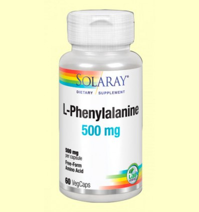 L-Phenylalanine 500 mg- Solaray - 60 cápsulas