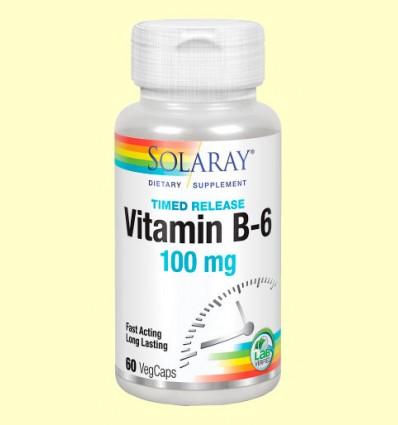 Vitamina B-6 100 mg - Solaray - 60 cápsulas