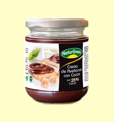 Crema Avellanas Cacao 25% Bio - NaturGreen - 200 gramos