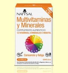 Multivitaminas y minerales - Natysal - 30 perlas