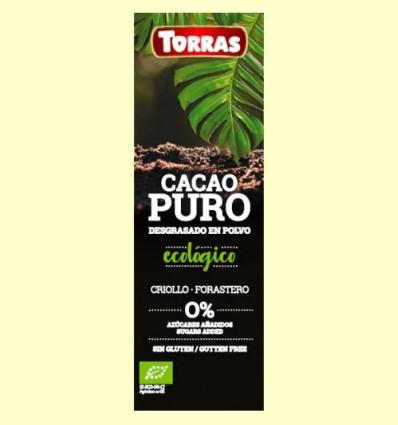 Cacao Puro desgrasado en Polvo - Torras - 150 gramos
