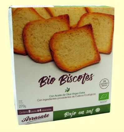 Biscotes sin Sal sin Azúcar Ecológicos - Arrasate - 270 gramos
