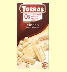 Chocolate Blanco sin Azúcar - Torras - Tableta de 75 gramos
