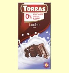 Chocolate con Leche sin Azúcar - Torras - Tableta de 75 gramos